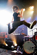 Matt Bowman of The Pigeon Detectives performs live on stage as part of 'The iTunes Music Festival' at the Institute of Contemporary Arts (ICA) on July 18, 2007 in London, England.(Photo by Simone Joyner)