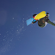 Taylor Gold, USA, in action during the Men's Half Pipe Finals in the LG Snowboard FIS World Cup, during the Winter Games at Cardrona, Wanaka, New Zealand, 28th August 2011. Photo Tim Clayton..