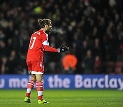 Southampton's Pablo Daniel Osvaldo celebrates his goal. - Photo mandatory by-line: Alex James/JMP - Tel: Mobile: 07966 386802 04/12/2013 - SPORT - Football - Southampton - St Mary's Stadium - Southampton v Aston Villa - Barclays Premier League