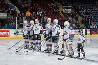 KELOWNA, CANADA - FEBRUARY 1: The pepsi player lines up with the Kelowna Rockets against the Calgary Hitmen on February 1, 2017 at Prospera Place in Kelowna, British Columbia, Canada.  (Photo by Marissa Baecker/Shoot the Breeze)  *** Local Caption ***