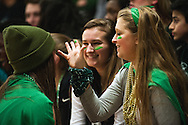 Rice fans paint their faces prior to the boys basketball game between the Burlington Seahorses and the Rice Green knights at Rice Memorial high School on Thursday night January 7, 2016 in South Burlington. (BRIAN JENKINS/for the FREE PRESS)