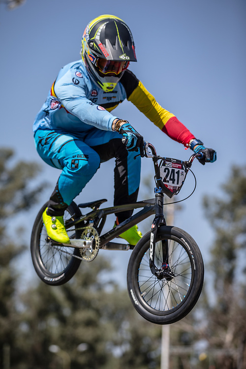 #241 (GOMMERS Ruben) BEL at round 8 of the 2018 UCI BMX Supercross World Cup in Santiago del Estero, Argentina.