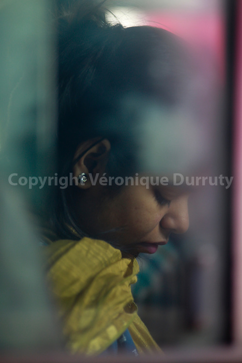 Dans le bus, Uttar Pradesh, Inde du Nord // In the bus, Uttar Pradesh, Northern India