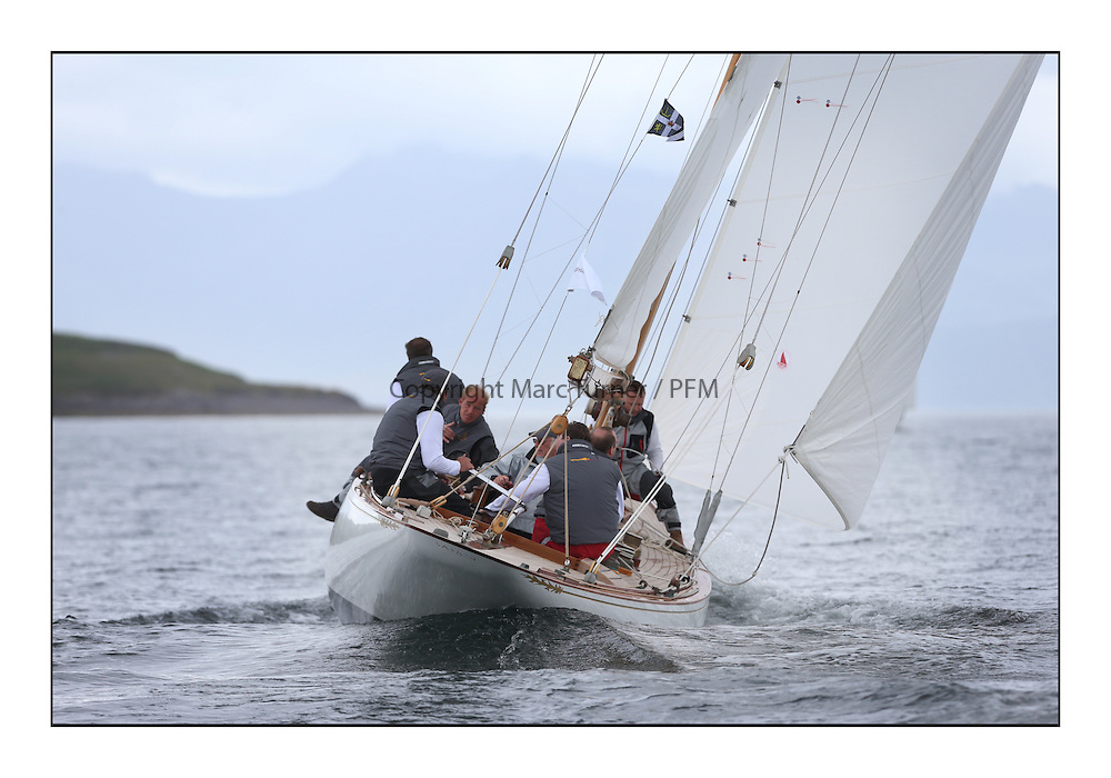 Day one of the Fife Regatta, Round Cumbraes Race.<br /> <br /> Saskia, 13, Murdoch McKillop, GBR, Bermudan Sloop, Wm Fife 3rd, 1931<br /> <br /> * The William Fife designed Yachts return to the birthplace of these historic yachts, the Scotland&rsquo;s pre-eminent yacht designer and builder for the 4th Fife Regatta on the Clyde 28th June&ndash;5th July 2013<br /> <br /> More information is available on the website: www.fiferegatta.com