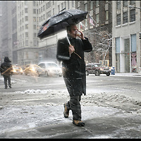 Portraits: when it snows in New York