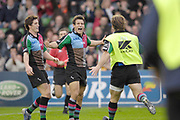 Twickenham. Great Britain, Quins,  Danny CARE, scores a first half try , during the, European Challenge Cup, match between, NEC Harlequins and Montpellier, on Sat., 28/10/2006, played at the Twickenham Stoop, England. Photo, Peter Spurrier/Intersport-images]......