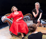 Hatched 'n' Dispatched <br /> by Gemma Page and Michael Kirk<br /> World Premier <br /> at the Park Theatre, London, Great Britain <br /> press photocall <br /> 2nd September 2015 <br /> <br /> Wendi Peters as Dorothy Needham <br /> <br /> Diana Vickers as Susan Walker <br /> <br /> <br /> <br /> <br /> Photograph by Elliott Franks <br /> Image licensed to Elliott Franks Photography Services