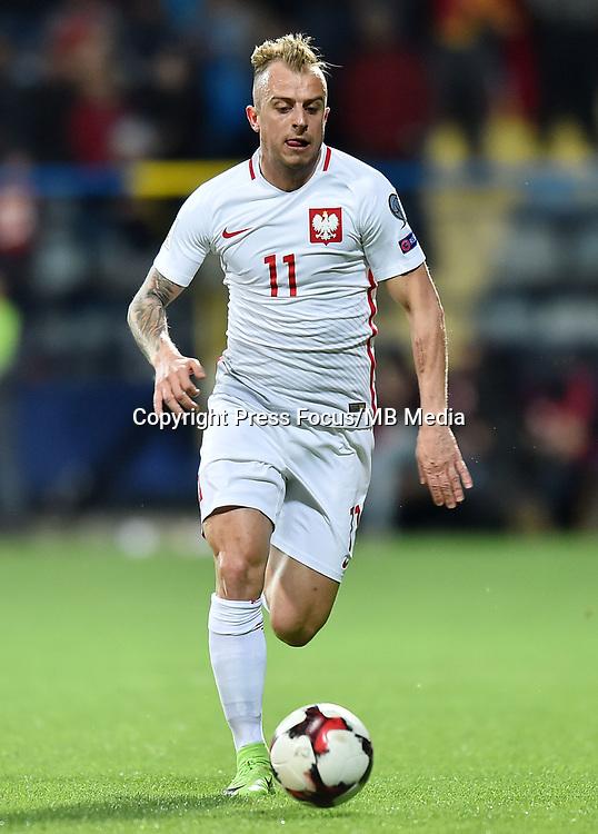 2017.03.26 Podgorica<br /> Pilka nozna kadra reprezentacja<br /> Eliminacje Mistrzostw Swiata Rosja 2018<br /> Czarnogora - Polska<br /> N/z Kamil Grosicki<br /> Foto Lukasz Laskowski / PressFocus<br /> <br /> 2017.03.26 Podgorica<br /> Football <br /> FIFA 2018 World Cup Qualifying game between Montenegro and Poland<br /> Kamil Grosicki<br /> Credit: Lukasz Laskowski / PressFocus