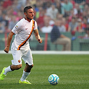 Francesco Totti, AS Roma, in action during the Liverpool Vs AS Roma friendly pre season football match at Fenway Park, Boston. USA. 23rd July 2014. Photo Tim Clayton