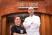 Repro Free: 21/10/2012.Dylan McGrath, pictured with former MasterChef contestant and now employee Christine O'Sullivan at his new venture, Fade Street Social, which will officially open to the public on Thursday, 25th October 2012.  The project will house two restaurants under one roof, The Gastro Bar which will serve tapas sized dishes and The Restaurant which will open in November serving traditional Irish dishes, as well as a Wintergarden.  For bookings call (01) 6040066, www.fadestreetsocial.com . Picture Andres Poveda