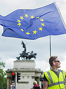 At the Wellington Arch - A march for Europe brings out thousands of remain supporters who march from Hyde Park to Parliament Square.