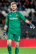 George Long of Hull City during the EFL Sky Bet Championship match between Hull City and Blackburn Rovers at the KCOM Stadium, Kingston upon Hull, England on 20 August 2019.