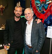 Opening van de duo tentoonstelling Loes van Delft en David Stesner bij de Cobra Art Gallery in Amsterdam. Op de foto: David Stesner