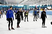 De vierde editie van De Hollandse 100 in Thialf, Heerenveen. De Hollandse 100 is een initiatief van stichting Lymph&Co. Stichting Lymph&Co steunt grensverleggend onderzoek om de behandeling van lymfklierkanker te verbeteren<br /> <br /> Op de foto:  Prins Bernhard met Prinses Annette met Simon Keizer