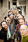 Most of the contestants from the 1st Uptown Pitman Beard & Moustache Competition gathered for a group love kind of shot.