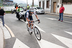 Tayler Wiles (USA) of Trek-Segafredo attacks on Stage 2 of 2019 Emakumeen Bira, a 111 km road race from Aduna to Amasa, Villabona, Spain on May 23, 2019. Photo by Balint Hamvas/velofocus.com
