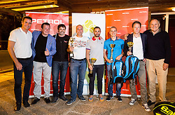 Gregor Krusic, Rado Mulej, Rok Vodnik, Goran Belic, Aljaz Kos, Blaz Jakic, Uros Mesojedec and Marko Umberger at  Petrol VIP tournament 2018, on May 24, 2018 in Sports park Tivoli, Ljubljana, Slovenia. Photo by Vid Ponikvar / Sportida