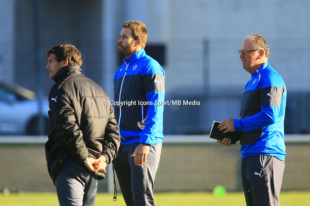 Shaun SOWERBY / Stephane GLAS / Jake WHITE - nouveau coach - 31.12.2014 - Rugby - Entrainement Montpellier - Top 14<br />