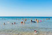 Daily life at the San Francesco beach in Bari on 7 August 2019. Christian Mantuano / OneShot