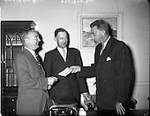 1959 - Presentation by C.I.E. chairman at Kingsbridge Station (Heuston), Dublin