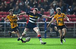 Joe Joyce of Bristol Rugby dribbles towards the touch-line - Mandatory by-line: Paul Knight/JMP - 22/12/2017 - RUGBY - Ashton Gate Stadium - Bristol, England - Bristol Rugby v Cornish Pirates - Greene King IPA Championship
