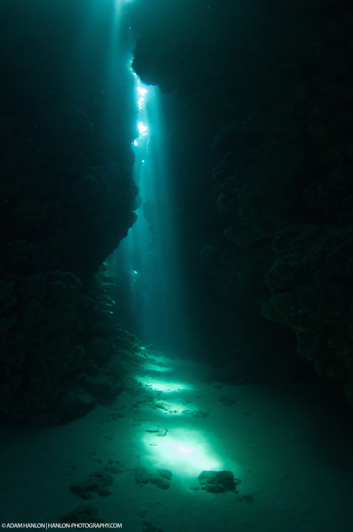 A shallow cave system provides an amazing light show.