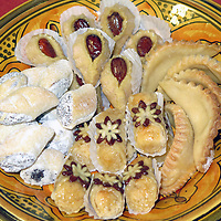 Collection of Moroccan Almond Pastry wtih honey.