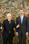 110617 King Feillpe VI attends a meeting with Reuven Rivlinm, President of Israel