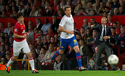 27.09.2011, Old Trafford, London, ENG, UEFA CL, Gruppe C, Manchester United (ENG) vs FC Basel (SUI), im Bild FC Basel 1893's head coach Thorsten Fink in action against // during the UEFA Champions League game, group C, Manchester United (ENG) vs FC Basel (SUI) at Old Trafford stadium in London, United Kingdom on 2011/09/27. EXPA Pictures © 2011, PhotoCredit: EXPA/ Propaganda Photo/ David Rawcliff +++++ ATTENTION - OUT OF ENGLAND/GBR+++++