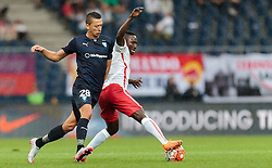 29.07.2015, Red Bull Arena, Salzburg, AUT, UEFA CL, FC Salzburg vs Malmoe FF, Qualifikation, 3. Runde, Hinspiel, im Bild v.l.: Nikola Djurdjic (Malmoe), Naby Keita (FC Red Bull Salzburg) // during the UEFA Championsleague Qualifier 3rd round, 1st Leg Match between FC Salzburg and Malmoe FF at the Red Bull Arena in Salzburg, Austria on 2015/07/29. EXPA Pictures © 2015, PhotoCredit: EXPA/ JFK