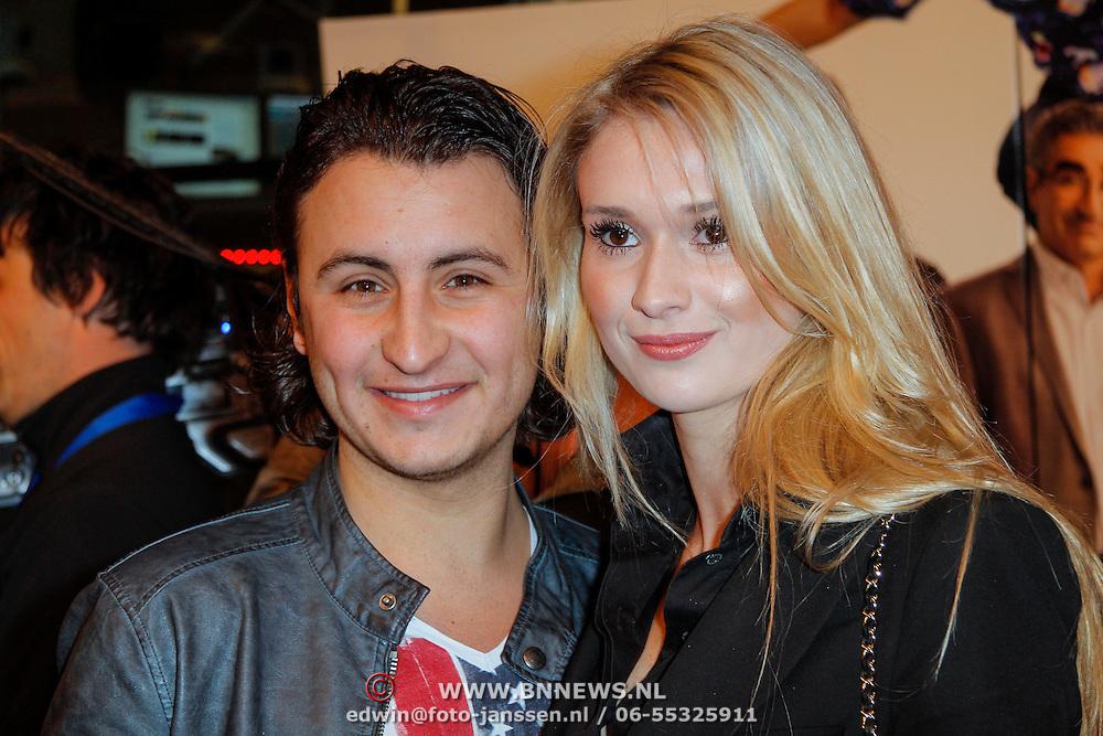 NLD/Amsterdam/20120326 - Inloop premiere American Pie: Reunion, Danny Froger en partner Michelle van den Eijnde