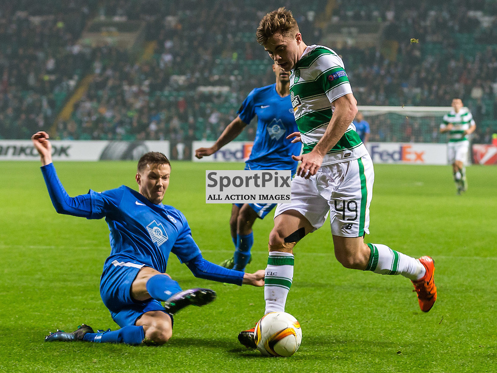 James Forrest loses the ball during the UEFA Europa League group stage match between Celtic and Molde FK (c) ROSS EAGLESHAM | Sportpix.co.uk