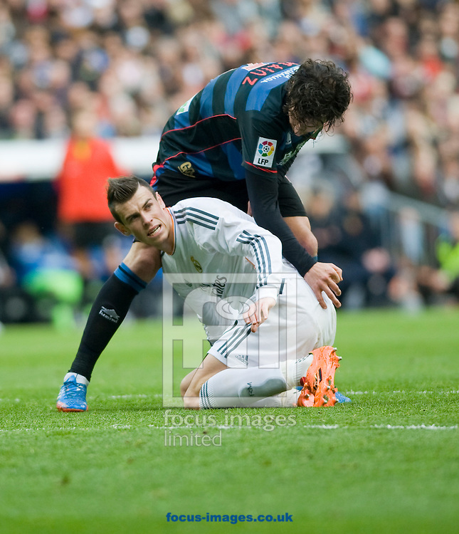Picture by Marcos Calvo Mesa/Focus Images Ltd +34 654142934<br /> 25/01/2014<br /> Gareth Bale of Real Madrid during La Liga match at the Estadio Santiago Bernabeu, Madrid.