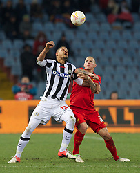 06.12.2012, Stadio Friuli, Udine, ITA, UEFA EL, Udinese Calcio vs FC Liverpool, Gruppe A, im Bild Liverpool's Martin Skrtel in action against Udinese Calcio's Mathias Ranegie during during the UEFA Europa League group A match between Udinese Calcio and Liverpool FC at the Stadio Friuli, Udinese, Italy on 2012/12/06. EXPA Pictures © 2012, PhotoCredit: EXPA/ Propagandaphoto/ David Rawcliffe..***** ATTENTION - OUT OF ENG, GBR, UK *****