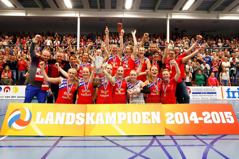 20150425 NED: Eredivisie VC Sneek - Eurosped, Sneek<br />VC Sneek is Nederlands Kampioen 2014 - 2O15<br />©2015-FotoHoogendoorn.nl / Pim Waslander