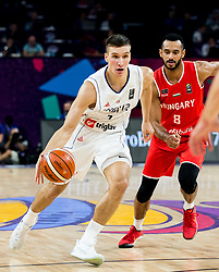 Bogdan Bogdanovic of Serbia vs Adam Hanga of Hungary during basketball match between National Teams of Serbia and Hungary at Day 11 in Round of 16 of the FIBA EuroBasket 2017 at Sinan Erdem Dome in Istanbul, Turkey on September 10, 2017. Photo by Vid Ponikvar / Sportida