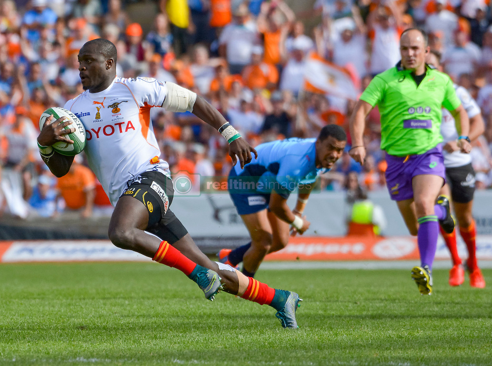 Raymond Rhule of the Free State Cheetahs during the Currie Cup Final between the The Free State Cheetahs and Blue Bulls held at Toyota Stadium (Free State Stadium), Bloemfontein, South Africa on the 22nd October 2016<br /> <br /> Photo by:   Frikkie Kapp / Real Time Images