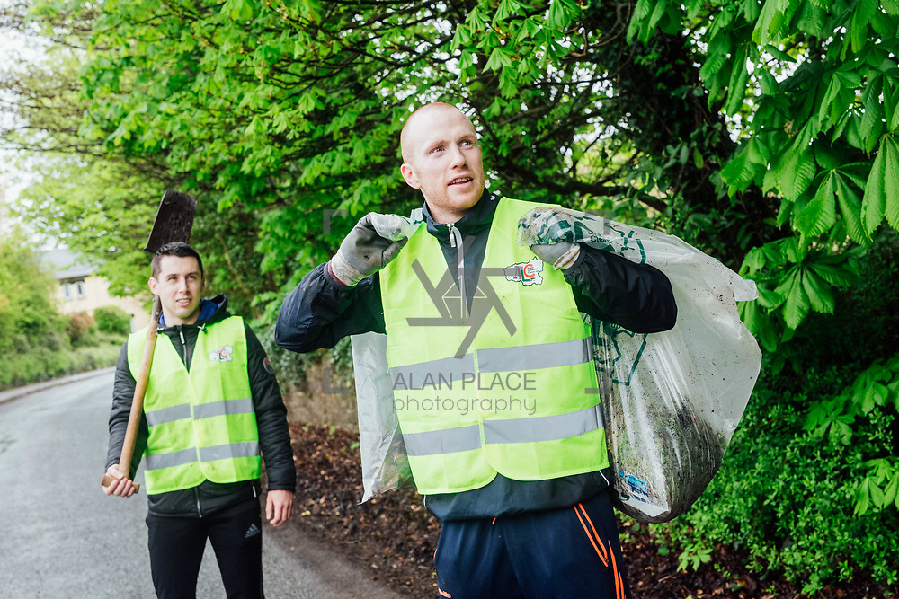 14.04.2017<br /> Europe&rsquo;s biggest ever one-day clean-up took place in Limerick today, Friday 14 April. Over 16,500 people took to the streets of Limerick city and county to take part in the occasion.<br /> Pictured taking part in the Team Limerick Clean-Up in Adare were, Limerick Hurlers  John Fitzgibbon and Wayne McNamara.<br /> Pic. Brian Arthur/ Alan Place Photography