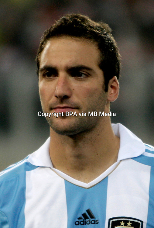 Football Fifa Brazil 2014 World Cup Matchs-Qualifier / South America - Group Matches /<br /> Peru vs Argentina 1-1 ( National Stadium-Lima ,Peru )<br /> Gonzalo HIGUAIN of Argentina , During the match between Peru and Argentina