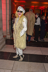 Pam Hogg at the Mary Quant VIP Preview at The Victoria & Albert Museum, London, England. 03 April 2019. <br /> <br /> ***For fees please contact us prior to publication***