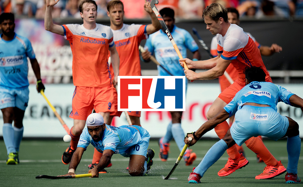 BREDA - Rabobank Hockey Champions Trophy<br /> The Netherlands - India<br /> Photo: SINGH Simranjeet.<br /> COPYRIGHT WORLDSPORTPICS FRANK UIJLENBROEK