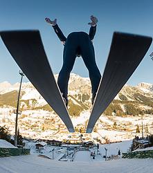 13.12.2013, Nordische Arena, Ramsau, AUT, FIS Nordische Kombination Weltcup, Skisprung Training, im Bild Christoph Bieler (AUT) // Christoph Bieler (AUT) during Ski Jumping Training of FIS Nordic Combined World Cup at the Nordic Arena in Ramsau, Austria on 2013/12/13. EXPA Pictures © 2013, EXPA/ JFK
