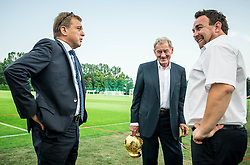 Bojan Ban of NK Maribor, Milan Mandaric  of NK Olimpija Ljubljana and Ilija Kitic of NZS during NZS Draw for season 2016/17, on June 24, 2016 in Brdo pri Kranju, Slovenia. Photo by Vid Ponikvar / Sportida