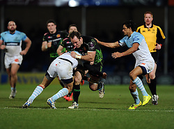 Exeter Chiefs' Openside Flanker, Kai Hortsmann breaks free  - Photo mandatory by-line: Joe Meredith/JMP - Mobile: 07966 386802 - 24/01/2015 - SPORT - Rugby - Exeter - Sandy Park Stadium - Exeter Chiefs v Bayonne - Challenge Cup Round 6