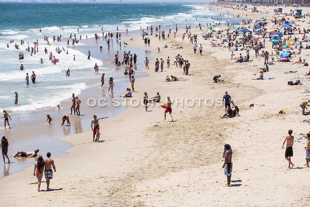 Summer Day at Huntington Beach Pier looking North