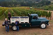 Fairsing Vineyard pinot noir harvest 2018 for Et Fille Wines, Yamhill-Carlton, Willamette Valley, Oregon