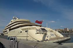 SPAIN CATALONIA BARCELONA 13MAR17 - Superyacht Dilbar in the port of Barcelona.<br /> <br /> jre/Photo by Jiri Rezac<br /> <br /> © Jiri Rezac 2017