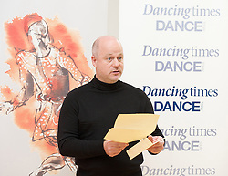 Jonathan Gray, Dancing Times Editor..National Dance Awards, Announcement of Nominations, The Place, London, Great Britain, November 9, 2012. Photo by Elliott Franks / i-Images.