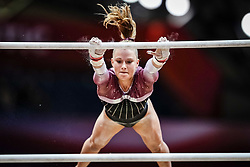October 28, 2018 - Doha, Quatar - Emilie Winther of  Denmark   during  Uneven Bars qualification at the Aspire Dome in Doha, Qatar, Artistic FIG Gymnastics World Championships on 28 of October 2018. (Credit Image: © Ulrik Pedersen/NurPhoto via ZUMA Press)