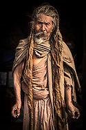 Portrait of Sadhu from Kathmandu, Nepal.<br />